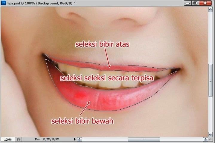 Cara Edit Memerahkan Bibir Menggunakan Photoshop Psd48