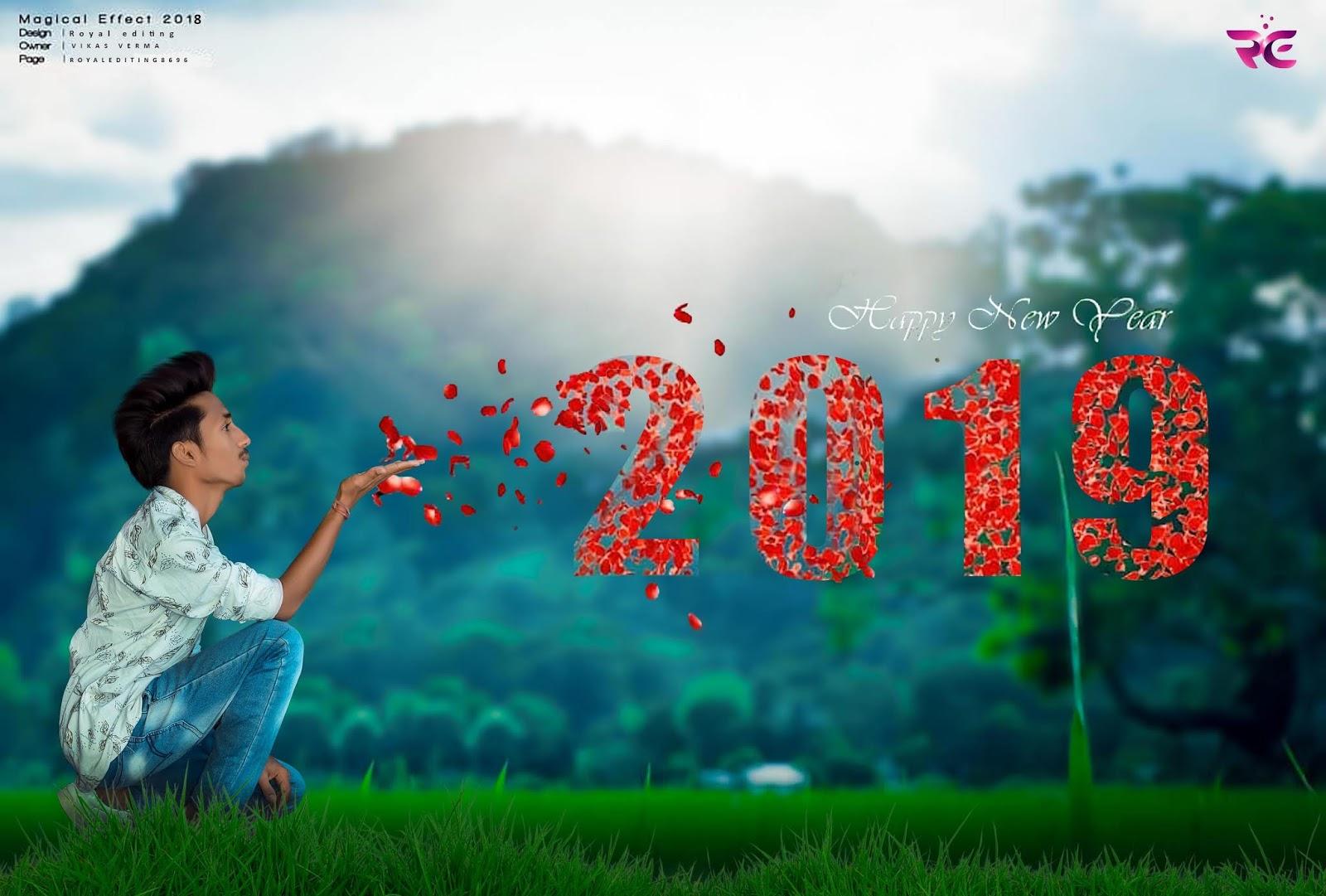 Happy New Year 2019 Editing Background Royal Editing