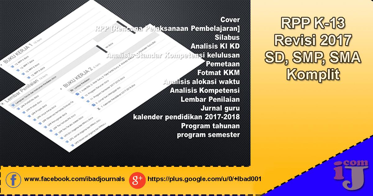 Unduh RPP Cuntorio K13 Revisi 2017 SD, SMP, SMA Komplit