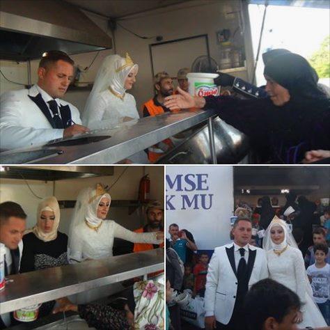 Ingin Berbagi Kebahagiaan, Pasangan Pengantin Ini Undang 4 Ribu Pengungsi Suriah Di Pesta Mereka