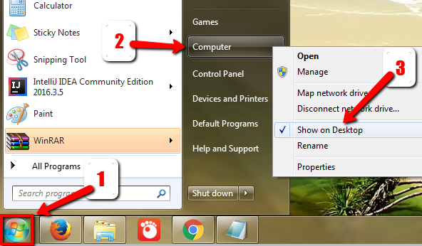 Display My Computer Icon in Windows 7