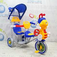 sepeda roda tiga family 2 kursi lebah