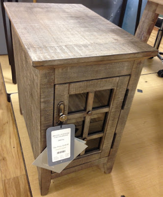Broyhill Chairside Table in Weathered Gray color (found in TJ Maxx)