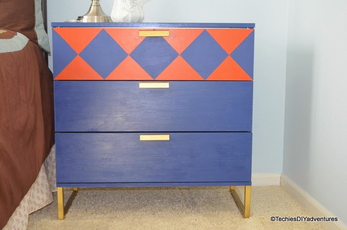 Blue Ikea Trysil with pop of color