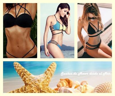 tendências bikinis com tiras e faixas