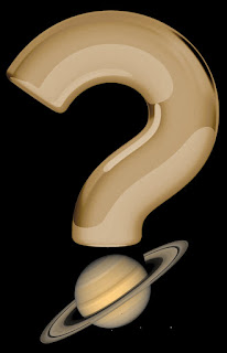 question mark illustration with saturn acting as the lower dot