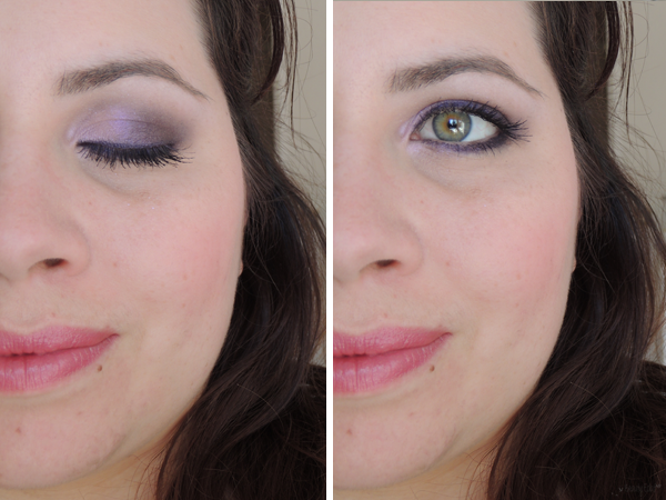 revue avis test maquillage printemps violet