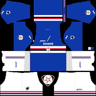 UC Sampdoria 2018 - 2019 Home Kit