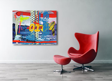 urban photography, abstract art, expressionist art, multi coloured, contemporary, modern, Sam Freek, wall art, canvas art, digital painting,