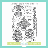 Christmas Topiaries stamp set by Sweet 'n Sassy Stamps