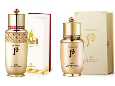 Review The History of Whoo Self Generating Essence (tube) & Ja Saeng Essence (sachet)