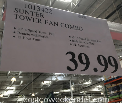 Deal for the Sunter Tower Fan Combo at Costco