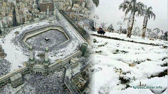 Video Inilah Badai Salju di Makkah Yang Sempat Bikin Heboh