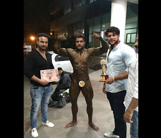 Aatur Tyagi Mr. North India Bodybuilding competition champion