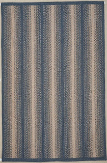 polypropylene rug in the braided weave india