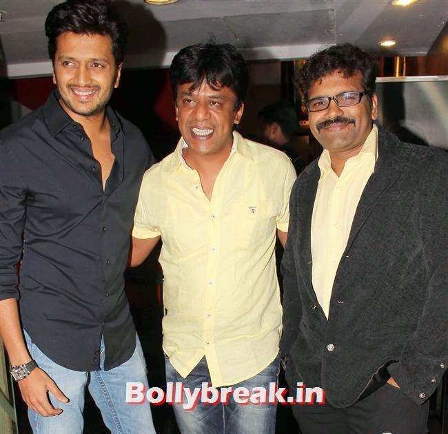 Ritesh Deshmukh, Genelia, Sonal, Karishma at Yellow Film Special Screening