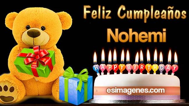 Feliz Cumpleaños Nohemi