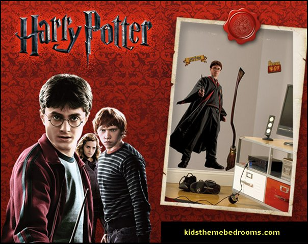 Harry potter themed bedrooms - Harry Potter Room Decor - Harry Potter Bedroom Ideas - Harry Potter  bedding - Harry Potter wall decals - Harry Potter wall murals - harry potter furniture - harry potter party supplies - castle decorating props - harry potter party decorations