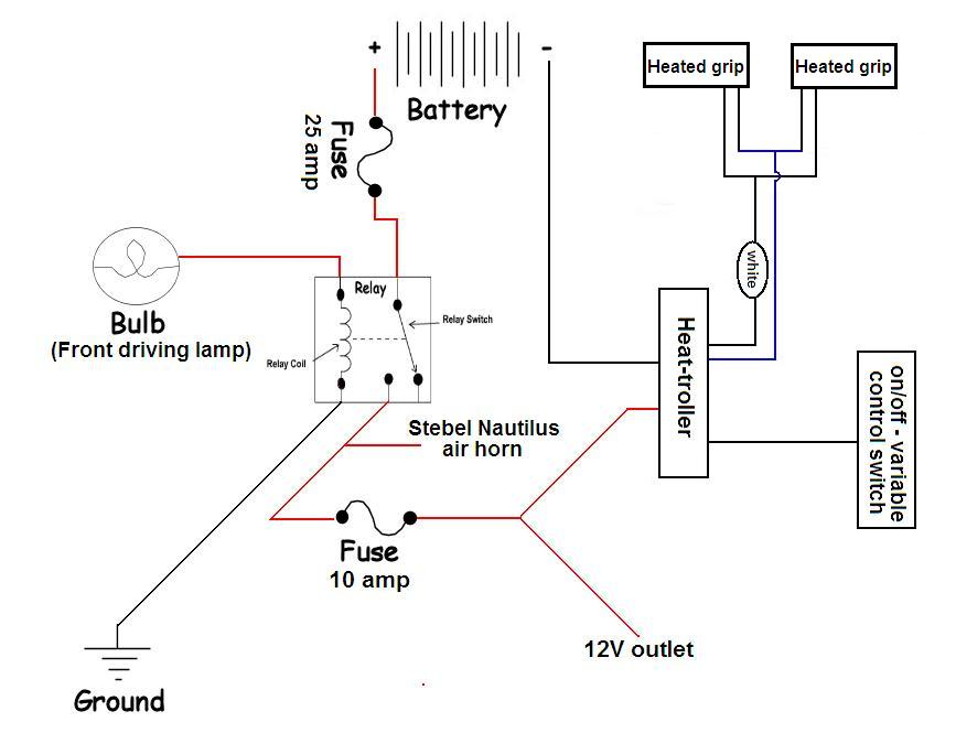 wiring diagram for harley heated grips
