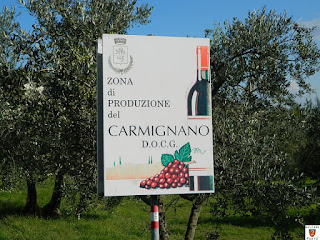 Cartello  - Zona di produzione Carmignano DOCG.