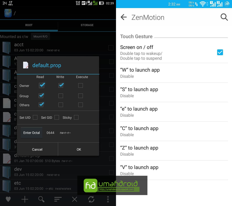 Mengaktifkan Fitur Zenmotion Doube Tap To Wake Up Di Zenfone 5