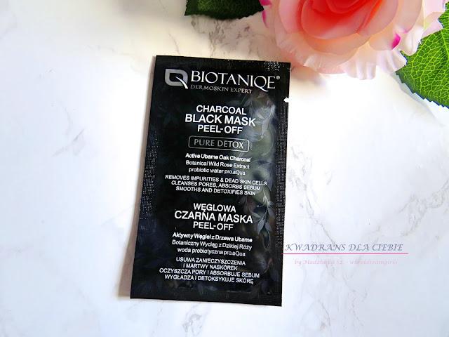 Biotaniqe DermoSkin Expert Pure Detox Charcoal Black Mask Peel-off, maska węglowa, oczyszczenie twarzy,maska peel off, maska węglowa, Kwadrans dla Ciebie,