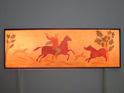 """Фресковая роспись """"Охота на вепря"""", 2-3 века, после реставрации"""