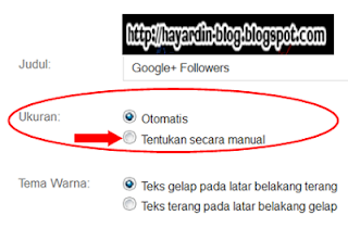 Cara pasang Gadget Google+ Follower pada Blog
