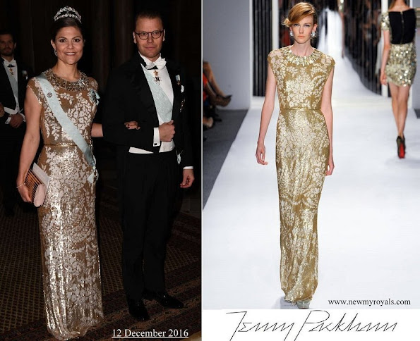 Crown Princess Victoria wore Jenny Packham Gown from Spring 2013 Collection