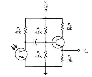 دارة مستقبل لترانزستور ضوئي
