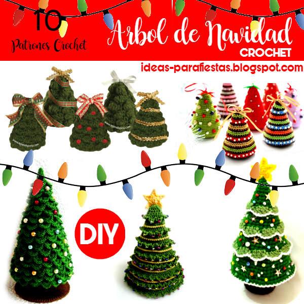 10 Patrones de Arbol de Navidad a Crochet / DIY ~ Mi fiesta inolvidable