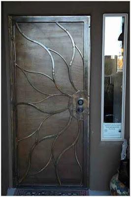 model pintu minimalis dari besi