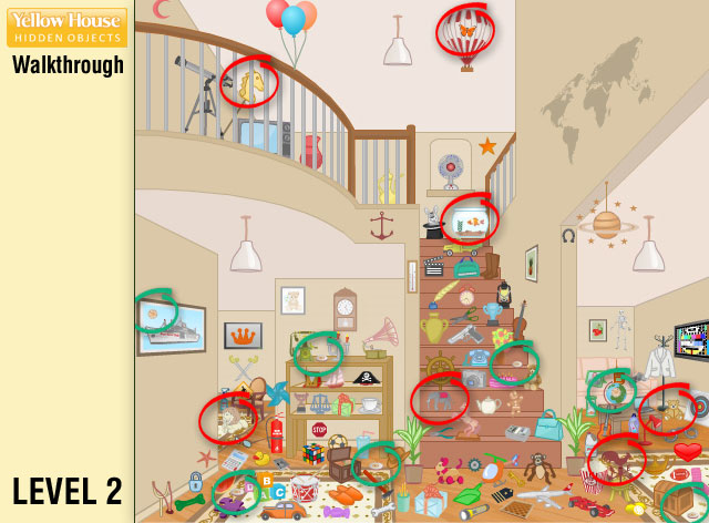 Yellow House Hidden Objects Level 2
