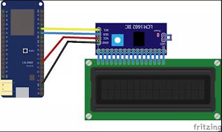 ESP32, Cara Mengakses LCD 16x2 I2C