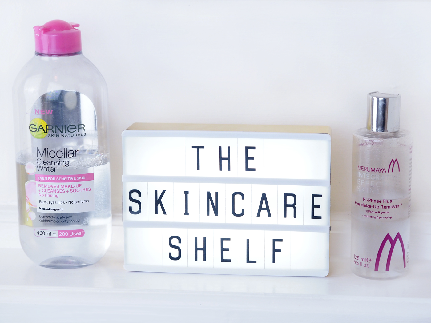 Winter Skincare Shelf cleansers