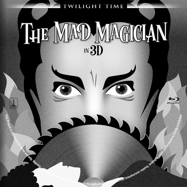 The Mad Magician (1954) 3D Bluray Label
