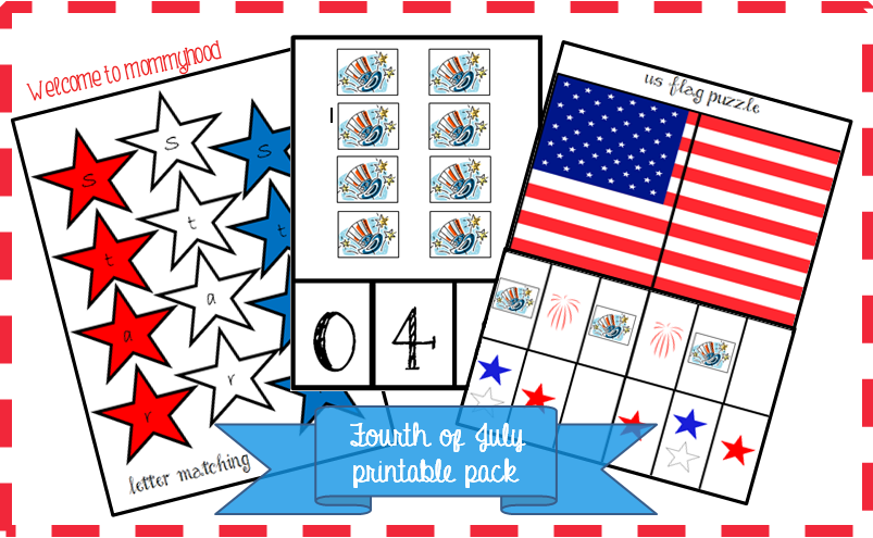 4th of July Montessori inspired printables for toddlers