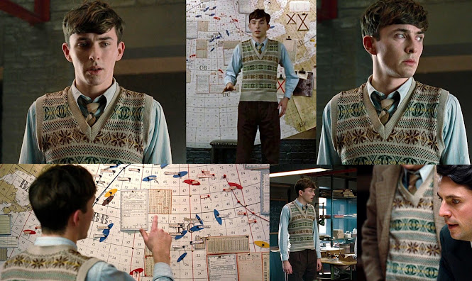 The Imitation Game Costumes - Peter Hilton Fair Isle Pullover