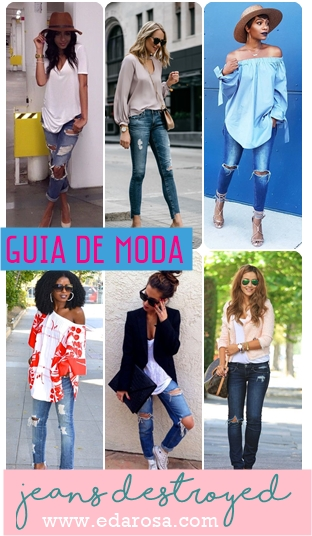 moda jeans destroyed looks