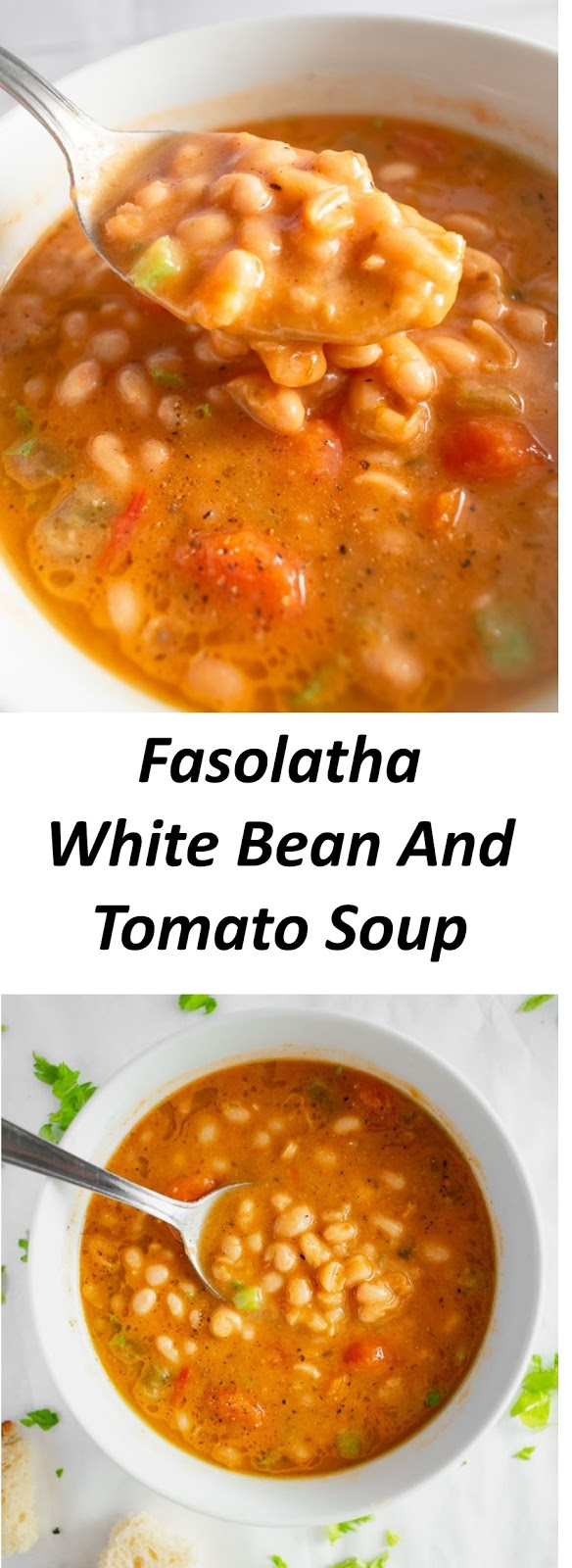 Fasolatha – White Bean And Tomato Soup