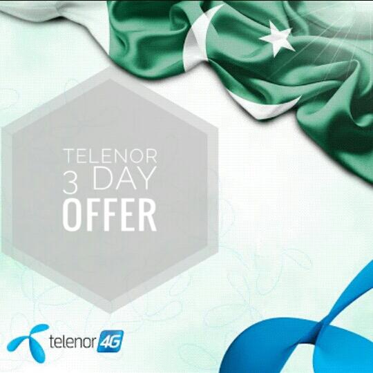 Three Day Sahult Offer Telenor New Best Offer For 2017
