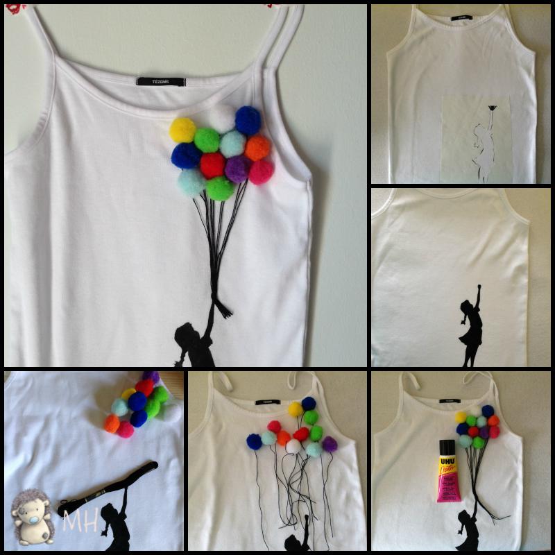 tutorial camiseta chica con globos