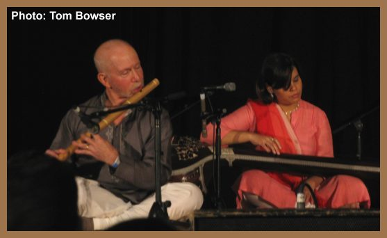 Lyon Leifer - Bansuri - Ragamala - Chicago World Music Festival | photograph by Tom Bowser