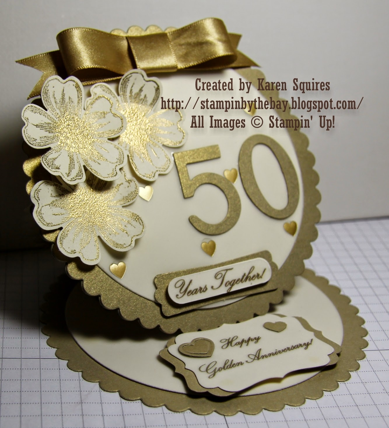 Stampin' By The Bay: Happy 50th Wedding Anniversary Mom & Dad