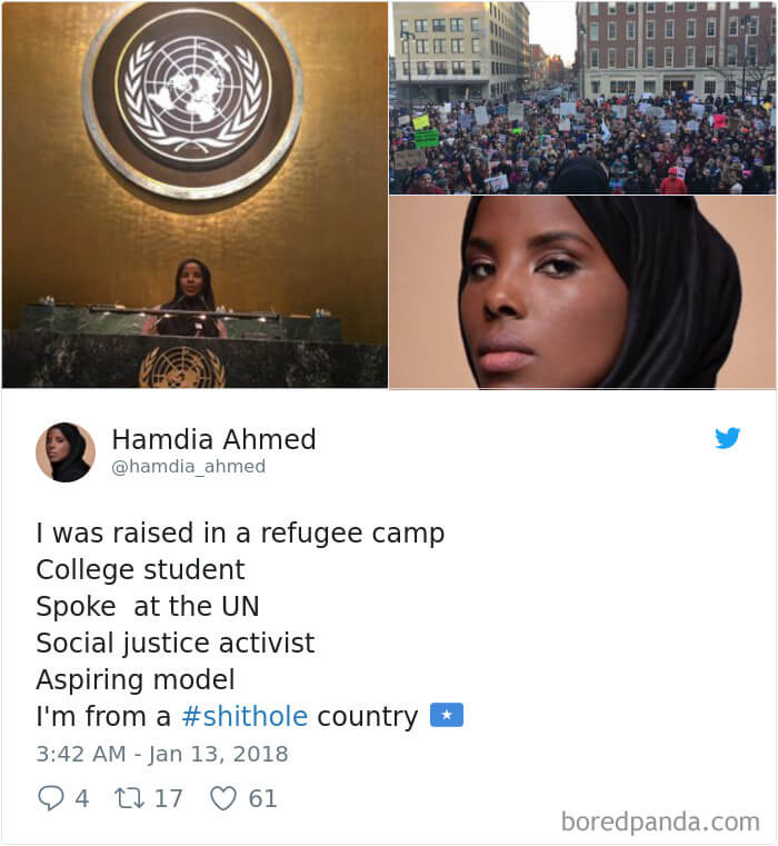 People Respond To Trump 'Shithole Countries' Remark. Take A Look At Their Powerful Tweets!