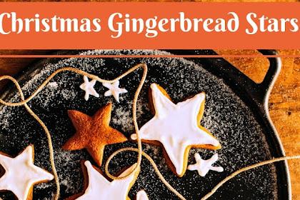 Christmas Gingerbread Stars #christmas #cookies