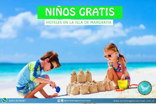IMAGEN Niños gratis promoción en hoteles en la Isla de margarita