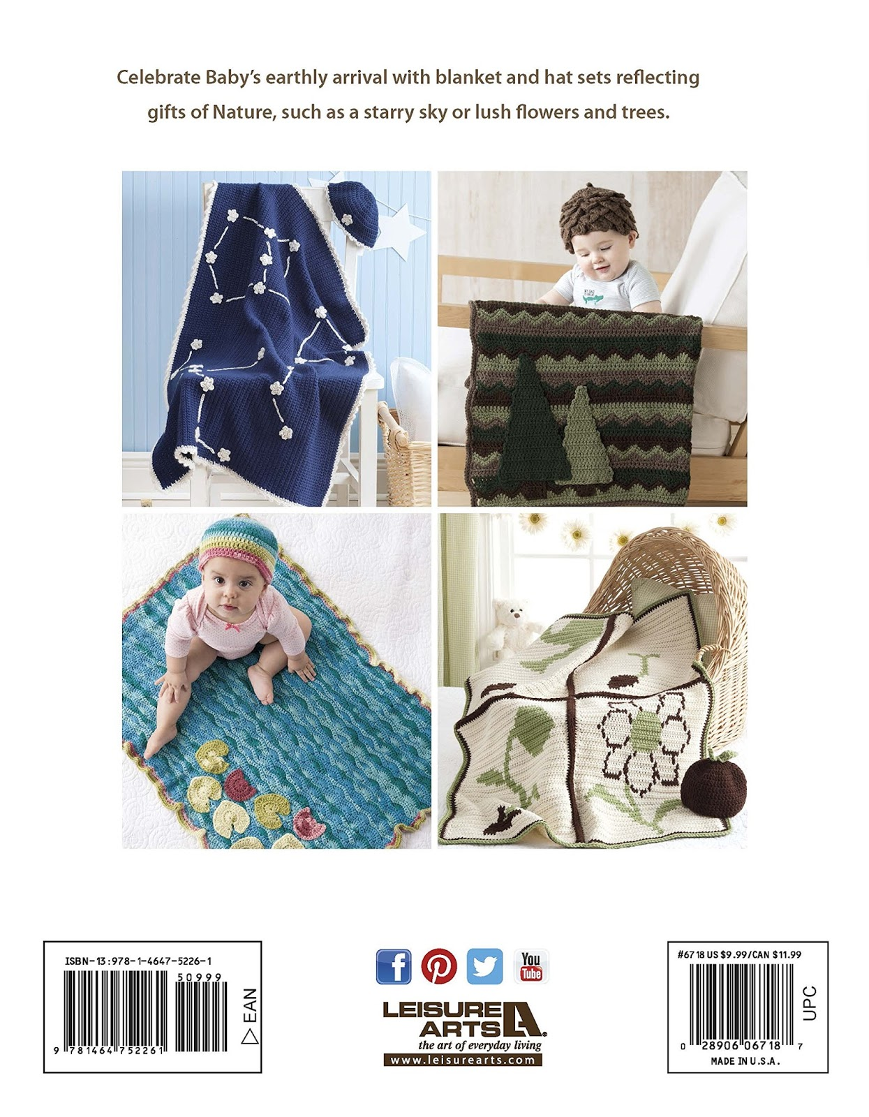 The book features seven blanket and hat sets for babies. I am so thrilled  and ecstatic about this book! A huge amount of gratitude goes out to  Leisure Arts ...