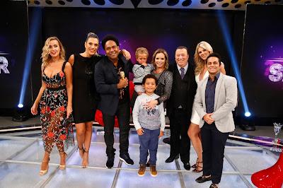 Lola, Ciça, Thalles com a família, Raul, Val e Thammy (Crédito: Rodrigo Belentani/SBT)
