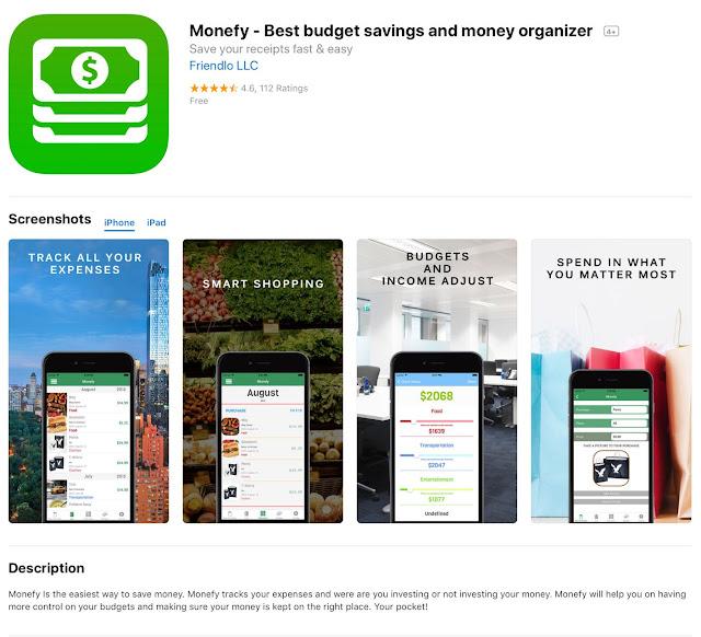 Free iOS App Today Monefy - Best budget savings and money organizer
